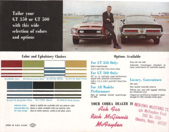 Omaha Ford Dealers >> You Are Visting The Best 1968 Shelby Webpage